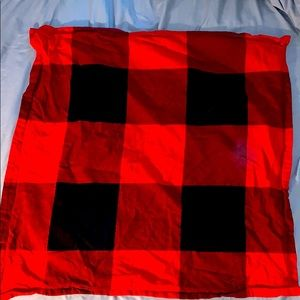 Pottery Barn Red and black buffalo check Eurosham